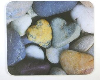 Mouse Pad mousepad Heart Stones Fine Art Original Photography