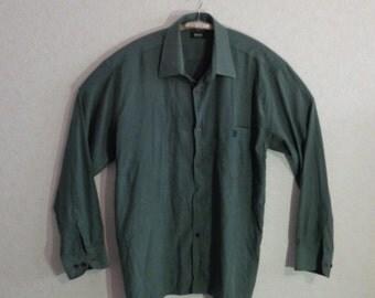 Vintage 80s.# Shirt for Mens# HUGO BOSS # Large size