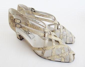 Vintage • Sandals • Leather Sandals • Peep Toe Sandals • Women's Sandals • Women's Shoes • Leather Shoes • US 6.5 UK 4 EU 37 • Gabor Sandals