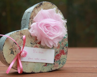 Door-alliance range |mariage shabby chic| Pink old and pink powder