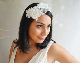 Beatiful Lace Headband, Bridal Headband, Wedding Headpiece