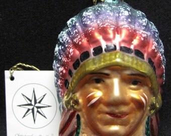 Christopher Radko Indian Head Ornament