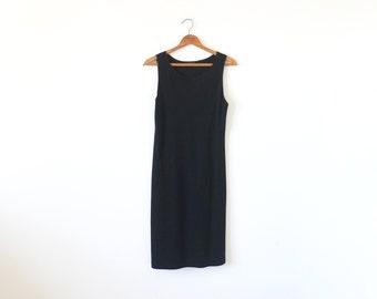 90s DONNA KARAN dress / vintage black dress