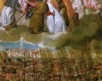 Veronese: The Battle of Lepanto. Fine Art Print/Poster. (0020218)