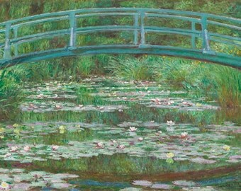 Claude Monet: The Japanese Footbridge. Fine Art Print/Poster.