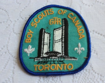 Vintage Boy Scouts of Canada GTR Badge vintage Toronto boy scouts patch Toronto city hall