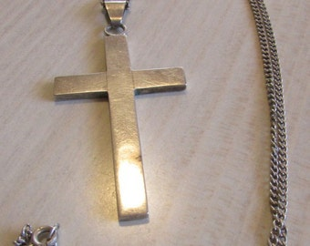 Sterling Silver Cross and Chain Necklace from Mexico