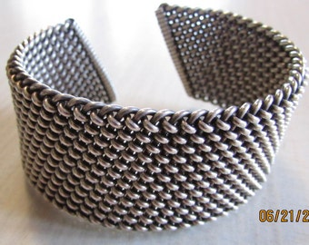 Great Looking Sterling Silver Cuff Bracelet