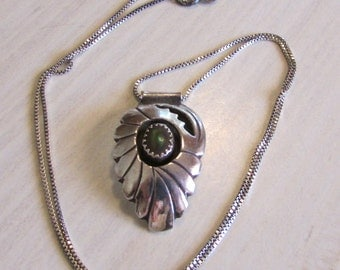 Sterling Silver and Boulder Opal Shadow Box Necklace