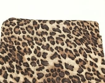Oh so leopard swaddle blanket