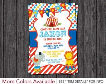Circus Birthday Invitation - Carnival Theme