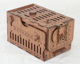 Steampunk Dice Tower - dice games, board games, RPG, laser cut and etched with amazing detail.
