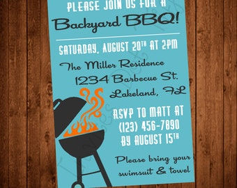 Retro Inspired Printable BBQ Invitation