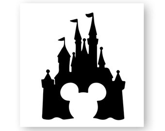 Disney, Castle, Icon, Mickey, Minnie, Head, Ears, Digital, Download, TShirt, Cut File, SVG, Iron on, Transfer