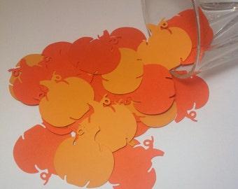 Paper pumpkins , confetti, Pumpkin confetti, Pumpkin cut outs, PU0010