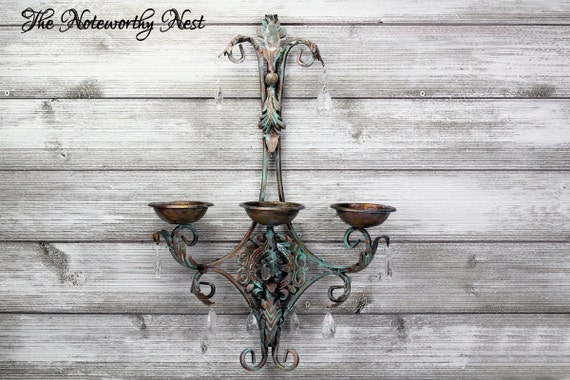 Beautiful Candle Sconce / Gallery Wall / Copper Decor / Wall