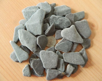 beach found slate pieces for crafts