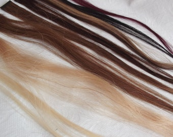 Hair colour swatches- Samples of hair colours available