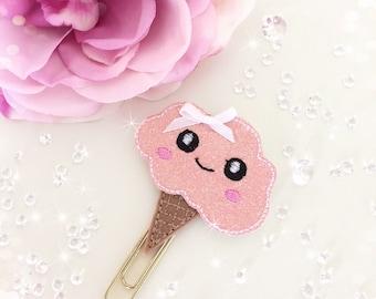 Kawaii Strawberry Ice Cream Paperclip...
