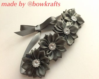 Gray lotus flower wreath