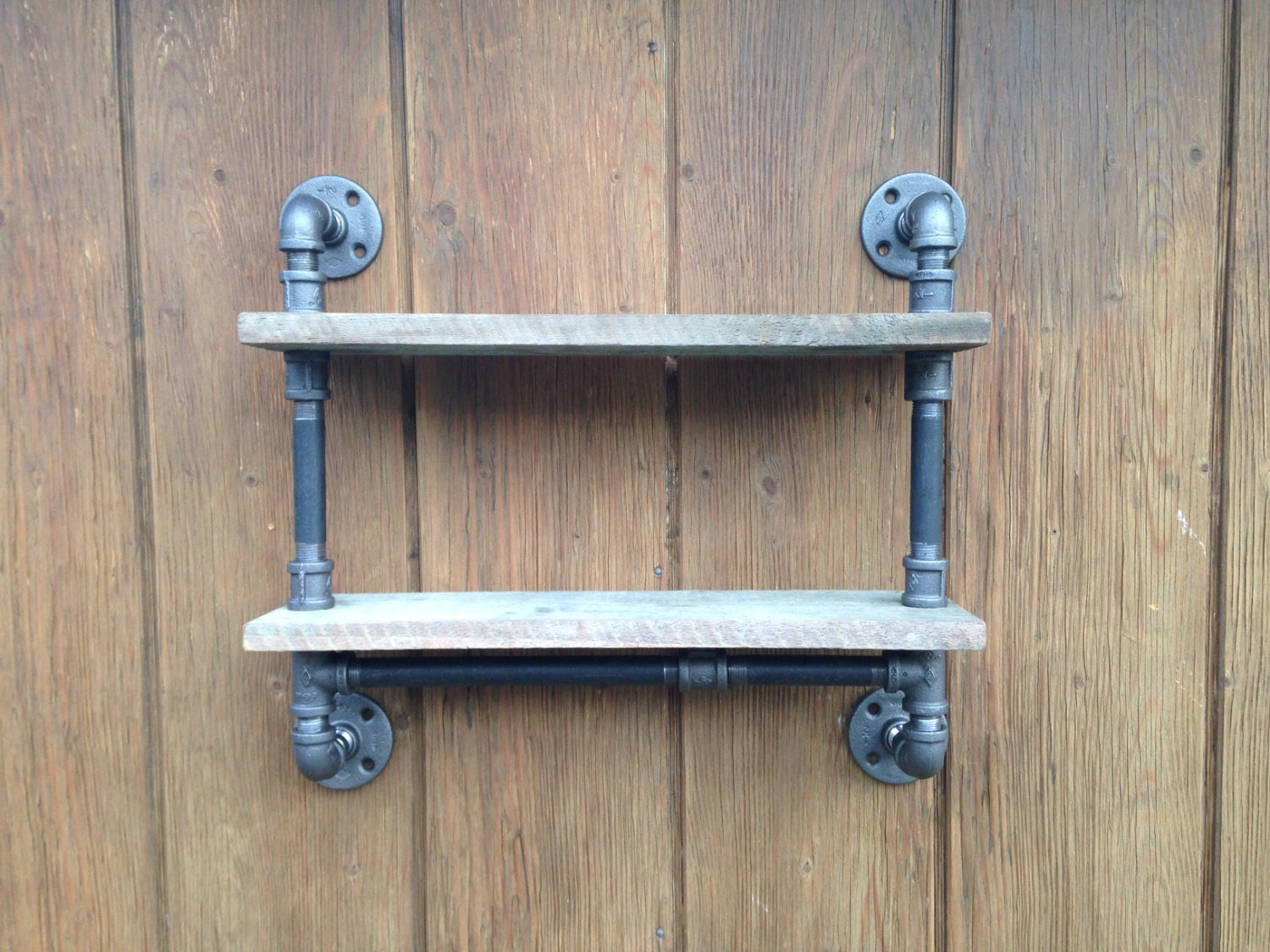 Amazing photo of Industrial Pipe Shelf Bathroom Shelf Reclaimed by PipesandPlanks with #396992 color and 1500x1125 pixels