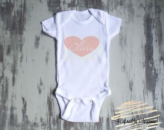 Baby Girl Onesie, Newborn onesie, Personalized Onesie, Baby shower gift,