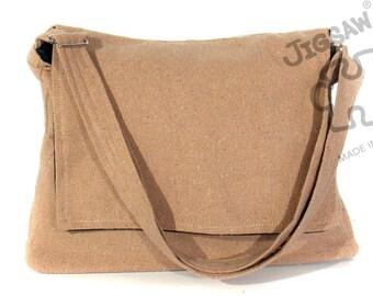 Messenger bag, Tan bag Crossbody bag Sling purse Shoulder Bag Tote Gift Idea