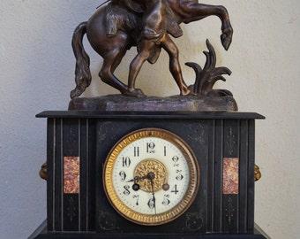 SUPERB 19th Century French Slate Mantel Clock
