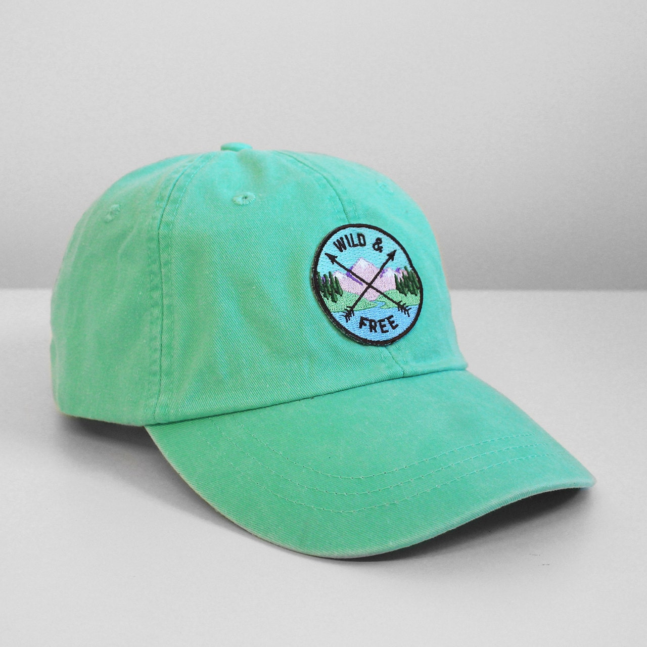 Wild free embroidered baseball hat your choice of cap
