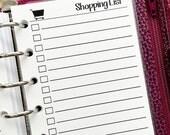Pocket Shopping List printed planner insert - grocery list - shop list - to buy list - gift giving tracker - #338