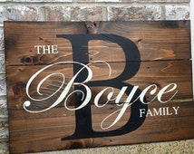 Last Name Wood Sign- Wedding Signs- Wood Signs - Gift for Newly Weds - Wedding Gift- Established Family Signs Wood- Custom Decor Sign