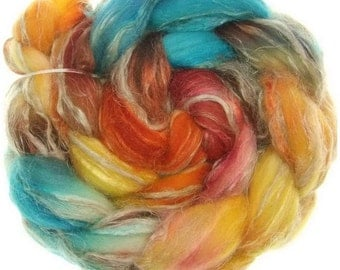 Merino rustico No. 71   handyed combed top roving for spinning #14614