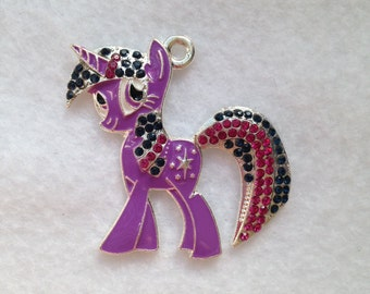 my little pony necklace rhinestone pendant