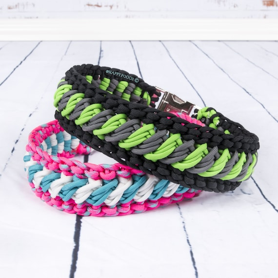 how to make a wide paracord dog collar