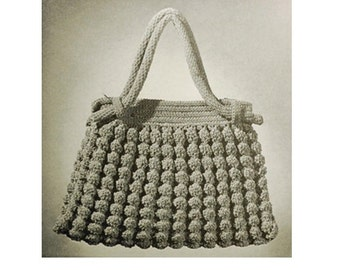 Crochet Bag Pattern Vintage 1930s -Crochet Shell Bag Vintage Crochet Spring Purse Pattern Crochet Handbag Pattern