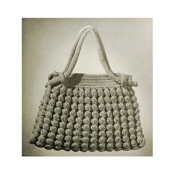 Crochet Bag Pattern Vintage 1930s -Crochet Shell Bag Vintage Crochet ...