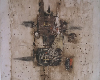 Johnny Friedlaender limited edition abstract etching 97/100, pencil signed