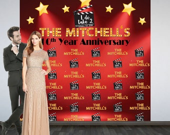 Red Carpet Party Personalized Photo Backdrop - Movie Photo Backdrop- Red Carpet Event Photo Backdrop- Custom Backdrop