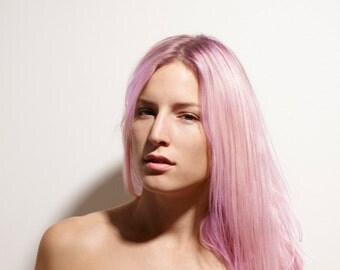 Exclusive 8A Remy Clip In Human Hair Extensions Pastel Pink All Lengths & Weights Available