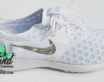 FREE Domestic Shipping!! Blinged White Wedding / Prom Nike Juvenate Made with SWAROVSKI® Crystals- New In Box