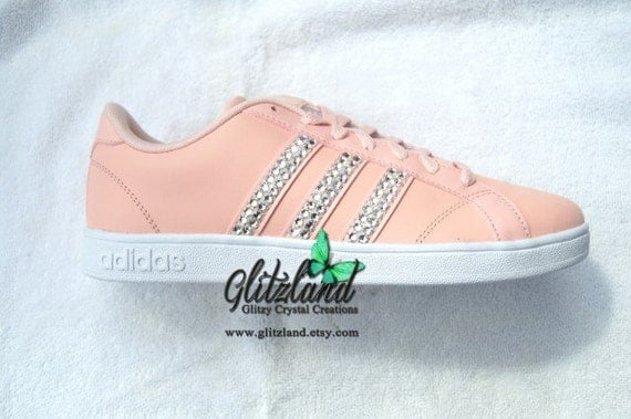 2676629e26401 lovely Ready To Ship Swarovski Adidas Women's size 7.5 by Glitzland ...