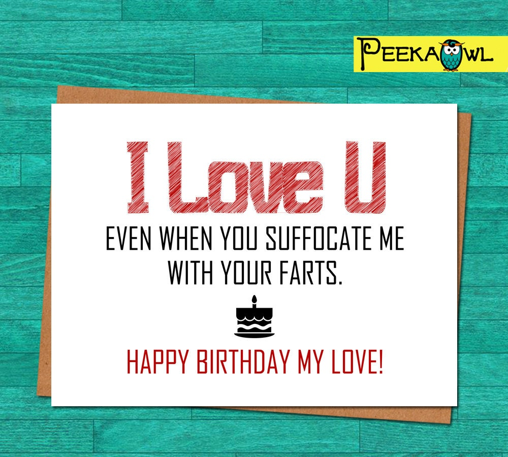 Instant Download Funny Birthday Card Boyfriend Husband – Funny Printable Birthday Cards Free