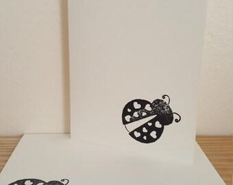 Post Card, Ladybug Post Card, Invitation, Blank Card, Birthday Card, Inspirational Post Card
