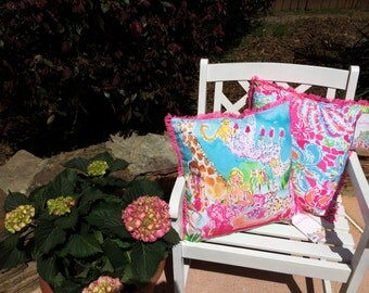 Lilly Pulitzer Pillow in Spot Ya or Zoo Party