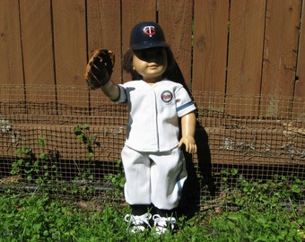"Minnesota Twins Uniform for American Girl and  other 18"" dolls"