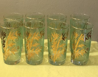 8 Libbey Bamboo Tumblers
