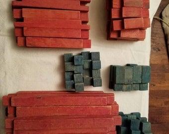 Vintage Building Blocks Possible 50's~ 86 Blocks