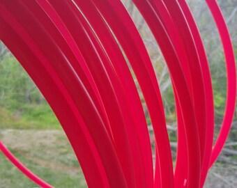 Uv reactive neon hot pink