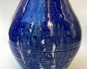 Beautiful Blue Vase, vase, flower vase