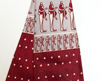 Original vintage 1940s swing tie - hieroglyphs